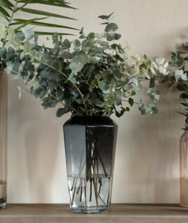 Midnight Hegaxon Vase Grey