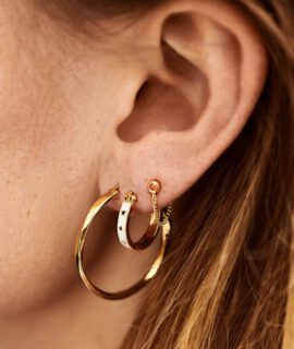 Dazzling Hoop Earrings Goldplated