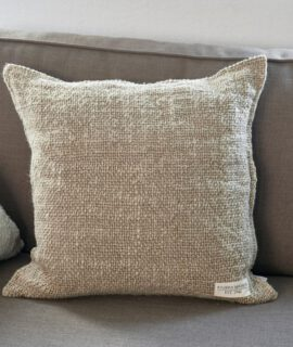 Rough Linen Pillow Cover Natural Riviera Maison