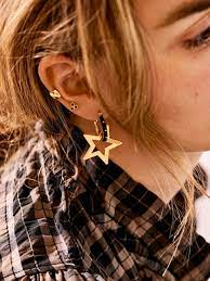 The Sheriff Star Necklace Charm Goldplated Anna + Nina